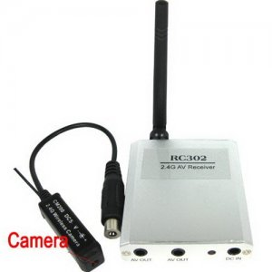 Wireless Surveillance Camera with Micro-COMS Sensors and Wireless Transmitter